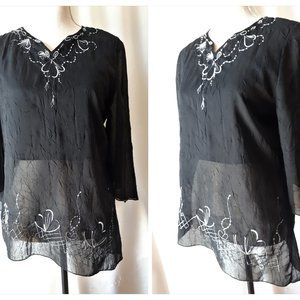*2/$14* Embroidered Blouse Size Small